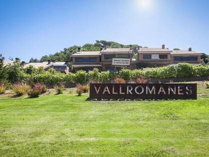 6 beautiful modern new townhouses for sale in Vallromanes
