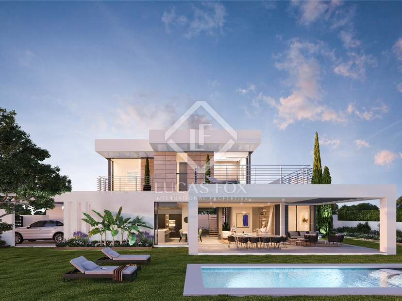 New development offering modern 3-bedroom villas with pools.