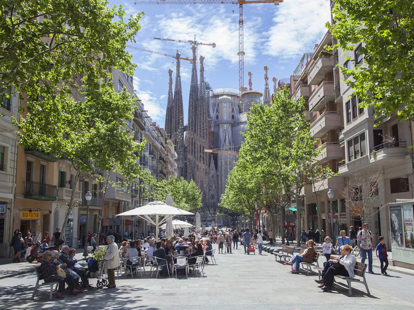 Eixample district in Barcelona, Teresa Helbig's headquarters.