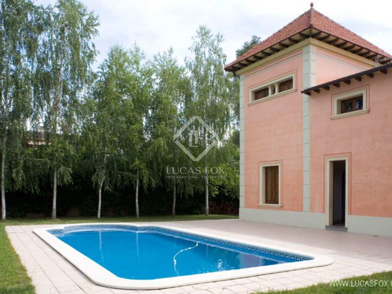 Maison villa de 468m a louer sant cugat barcelone - Location maison piscine barcelone ...