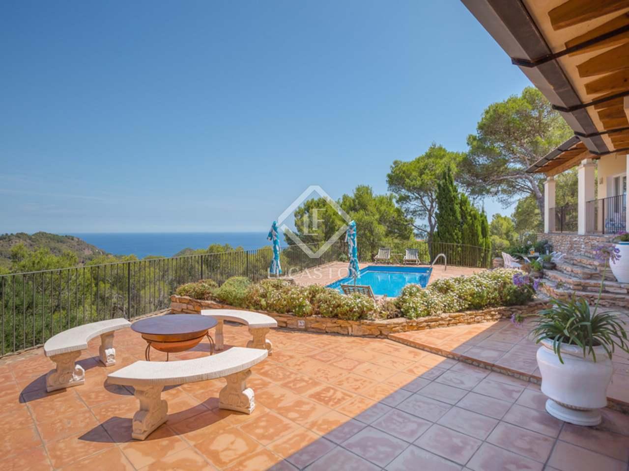 Casa en venta en begur costa brava vistas al mar y piscina - Apartamentos en costa brava ...