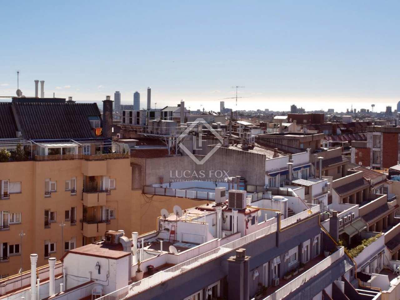 Penthouse en vente gr cia sur barcelone for Piscine w barcelone