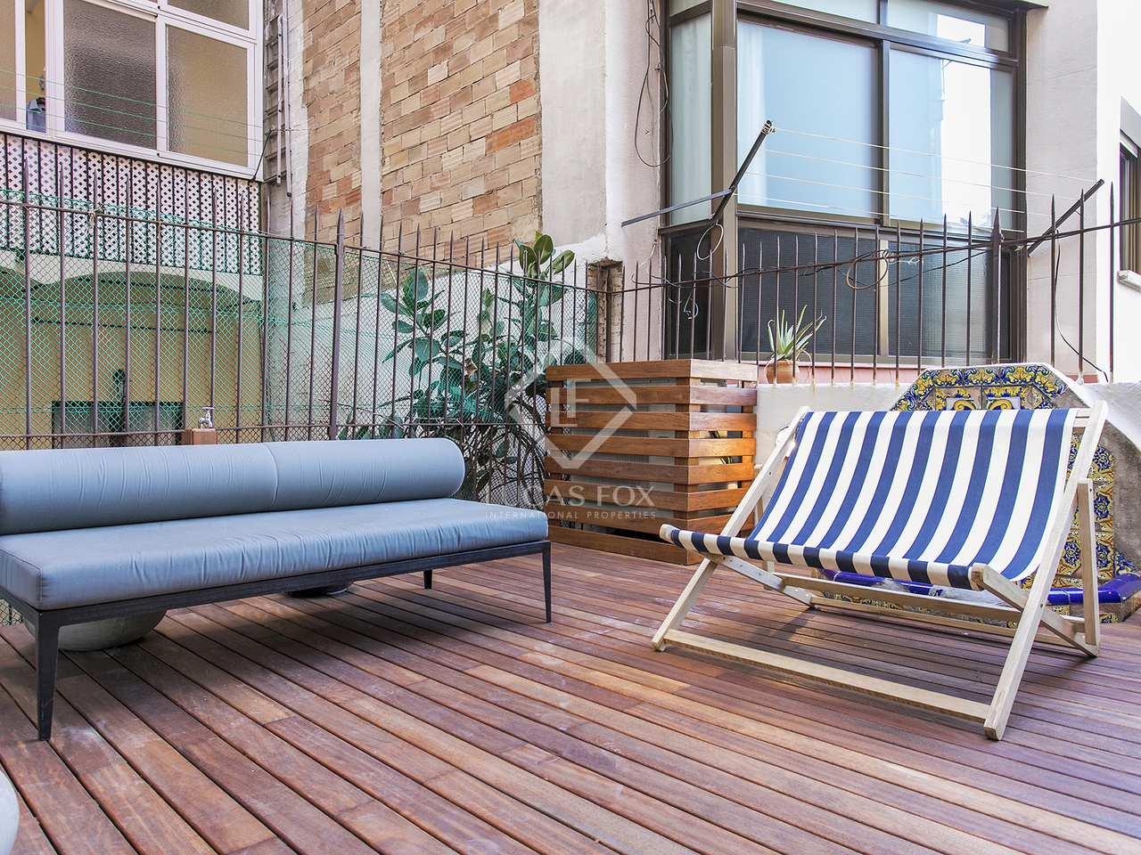 Piso de 70m con terraza de 30m en alquiler en sant antoni - Calle borrell barcelona ...