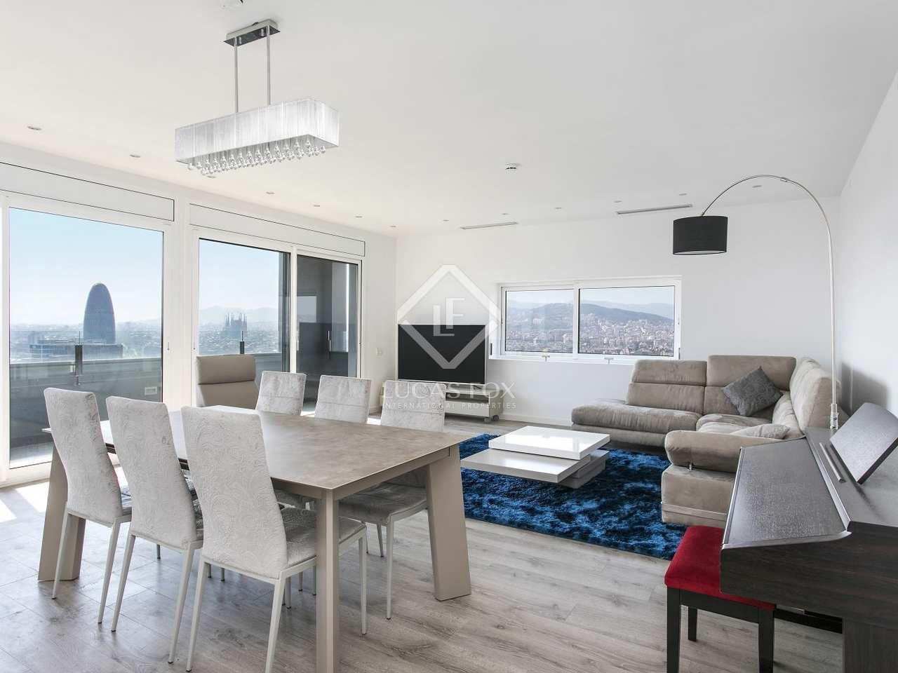 125m dachwohnung mit 20m terrasse zur miete in poblenou. Black Bedroom Furniture Sets. Home Design Ideas