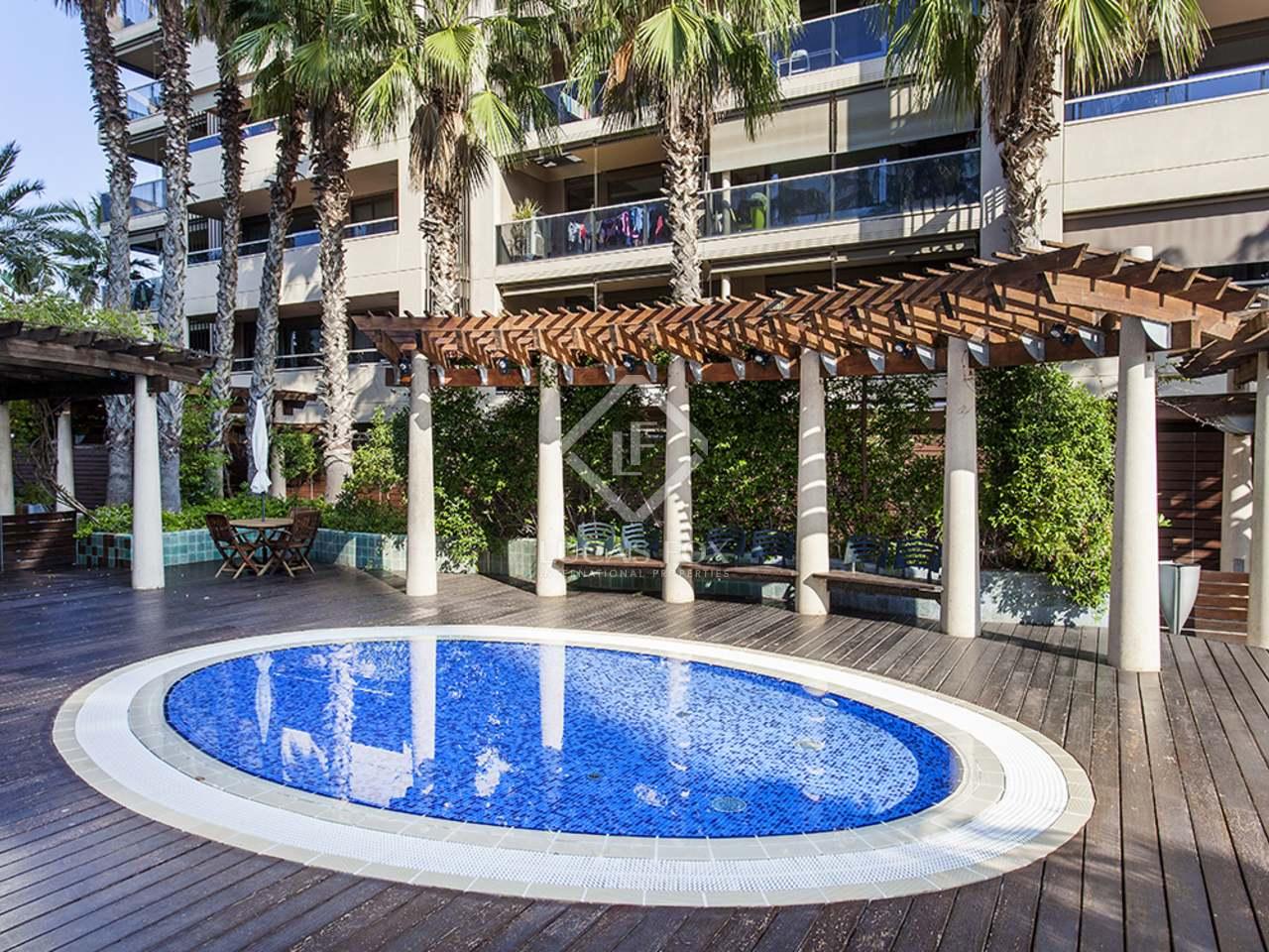 Appartement de 81m a louer diagonal mar avec 16m terrasse for Appartement avec piscine barcelone