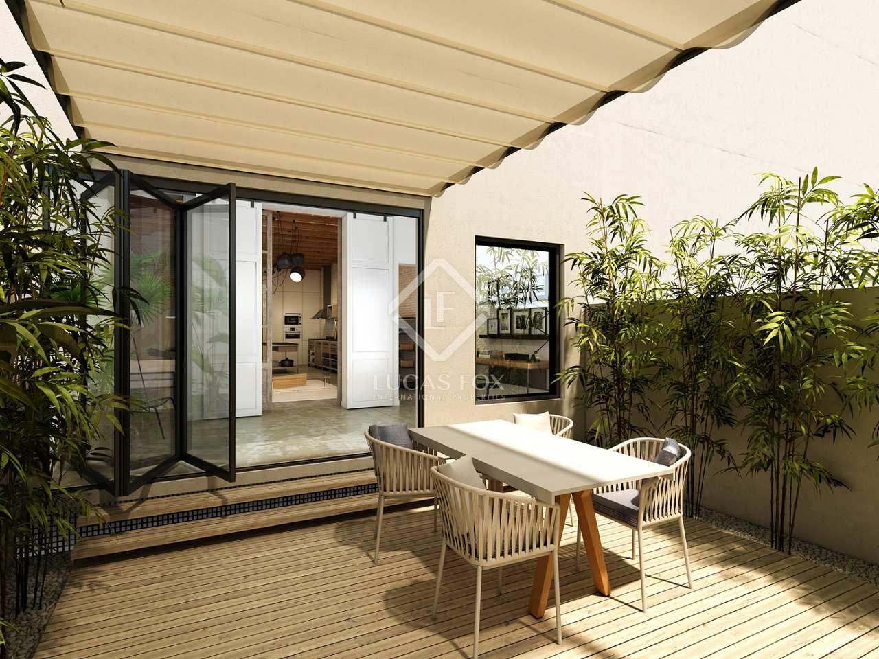 150m wohnung mit 23m terrasse zum verkauf in eixample rechts. Black Bedroom Furniture Sets. Home Design Ideas