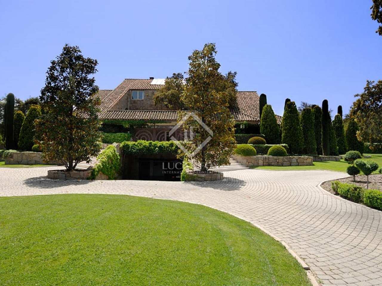 Casa de lujo en venta en la moraleja madrid espa a Villa jardin donde queda