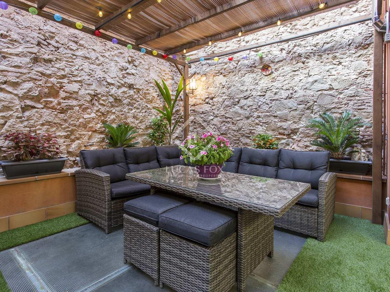 Casa de 3 plantas con terrazas grandes en venta en barcelona for Terrazas 1280 a