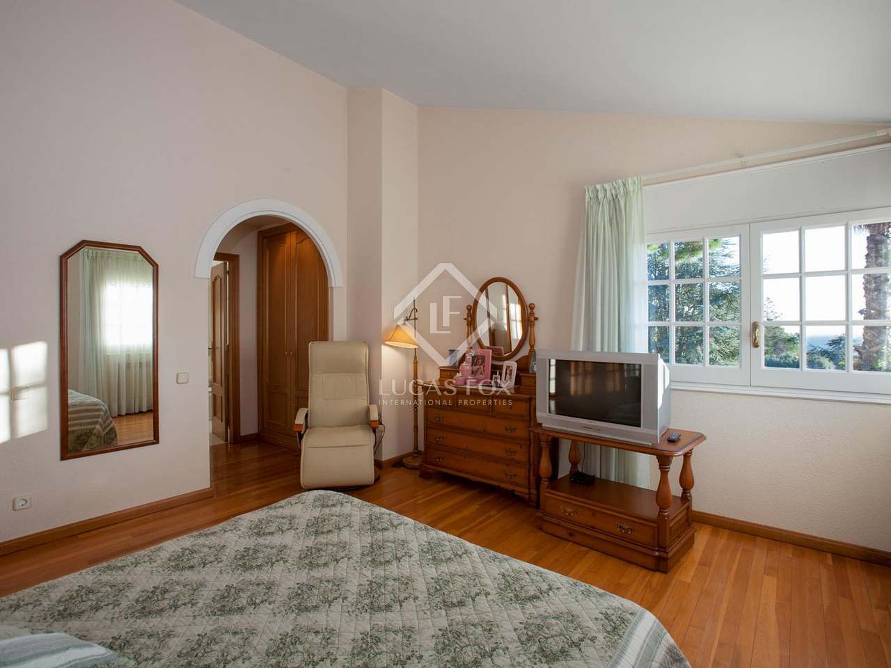 Detached mediterranean style villa for sale in cabrils Mediterranean home decor for sale