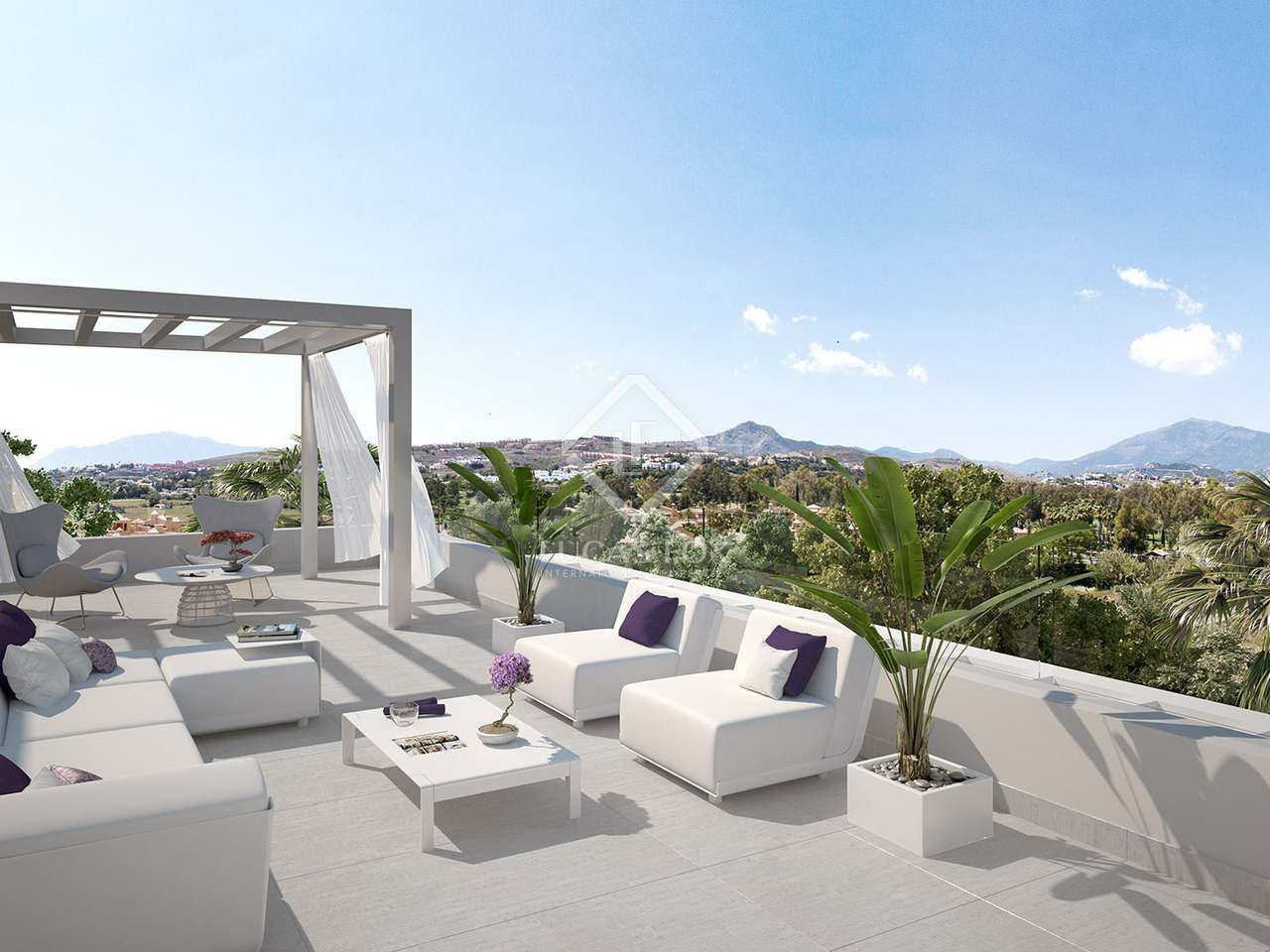 113m apartment with 176m garden for sale in west marbella for Terrace white