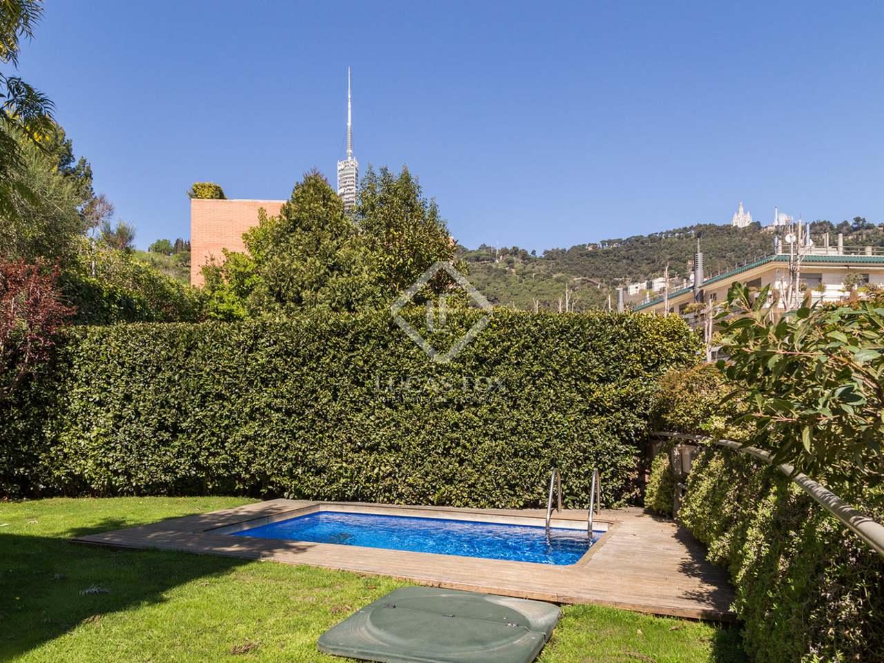 Bonita casa en alquiler en la zona alta de barcelona for Casa con jardin barcelona alquiler