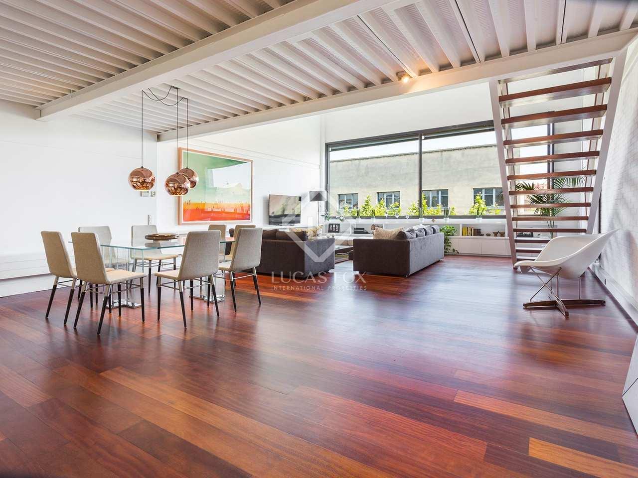 Loft de 150m a vendre poblenou avec 14m terrasse for Loft terrasse