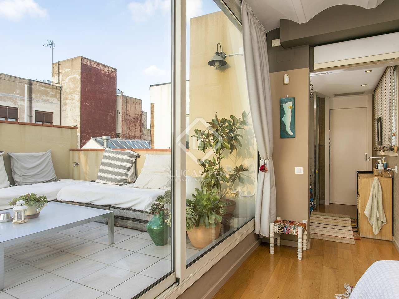 Appartement de 120m a louer gr cia avec 90m terrasse for Appartement a louer a barcelone avec piscine
