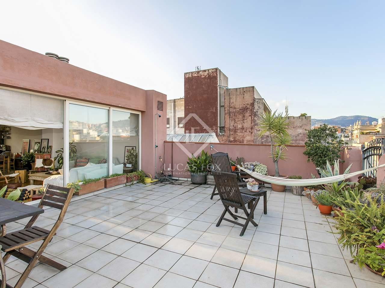 Piso de 120m con 90m de terrazas en alquiler en gr cia for Terrazas 1280 a