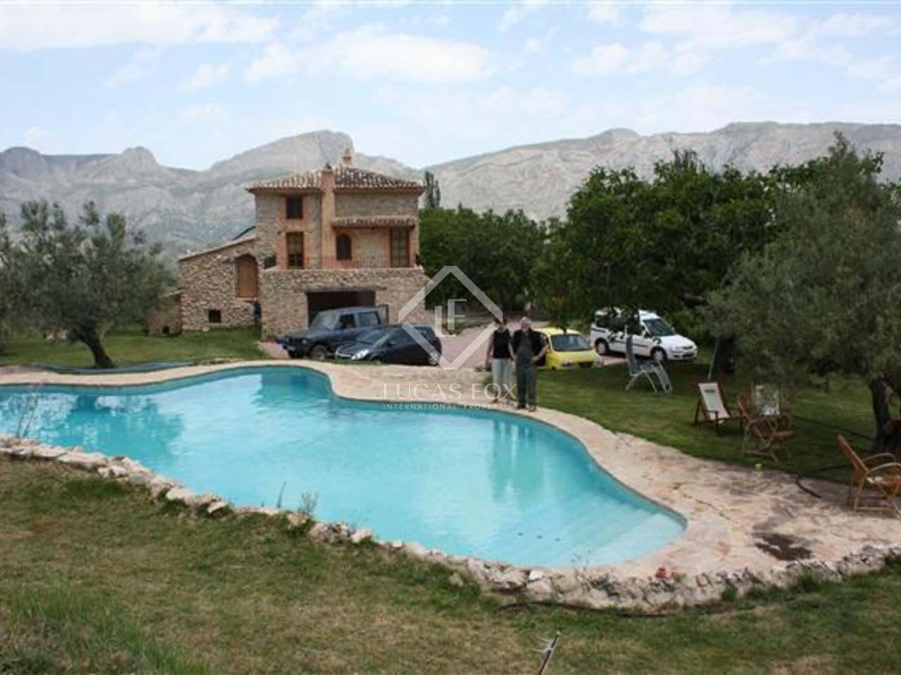 Casa rural r stica en venta detr s de altea valencia - Casas en altea ...