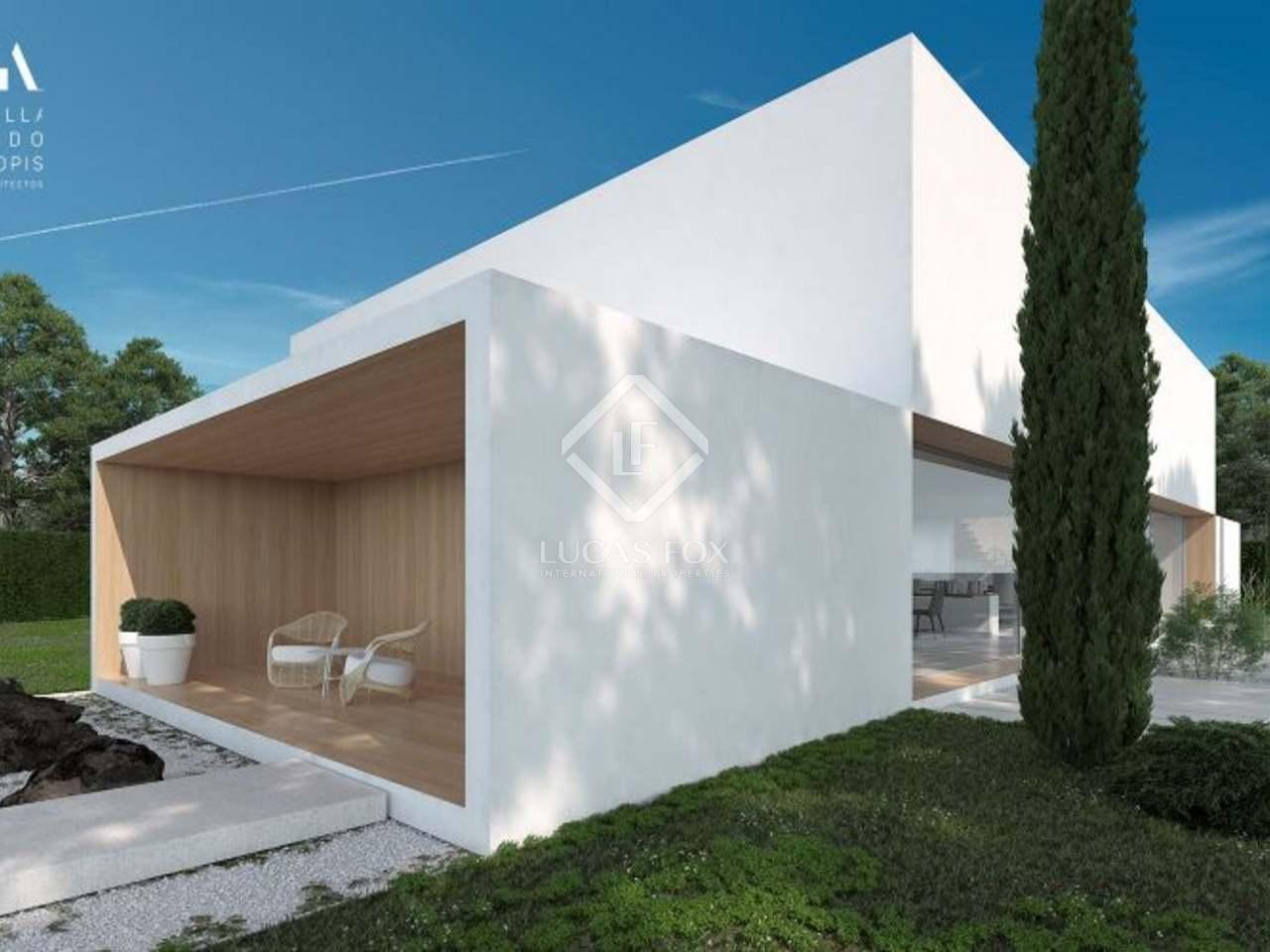 Chalet moderno de obra nueva con piscina en venta en rocafort for Proyecto chalet moderno