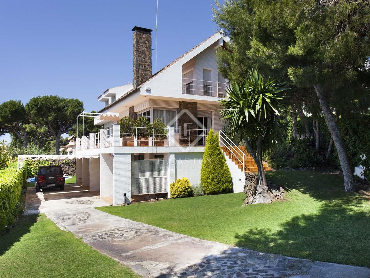 456m haus villa zum verkauf in vallpineda sitges for Verkauf haus