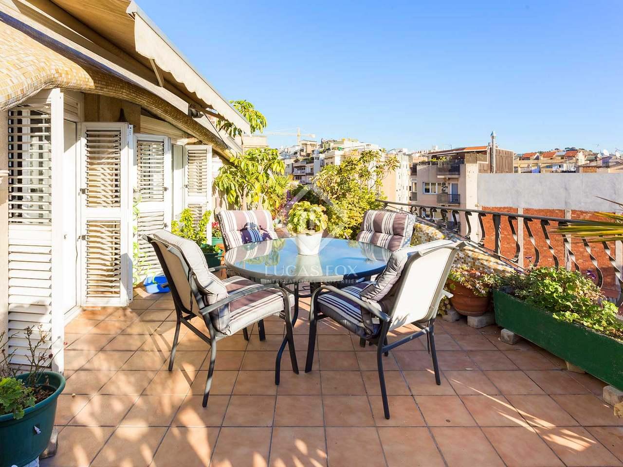 Tico de 4 dormitorios en venta en sant gervasi barcelona - Atico terraza barcelona ...