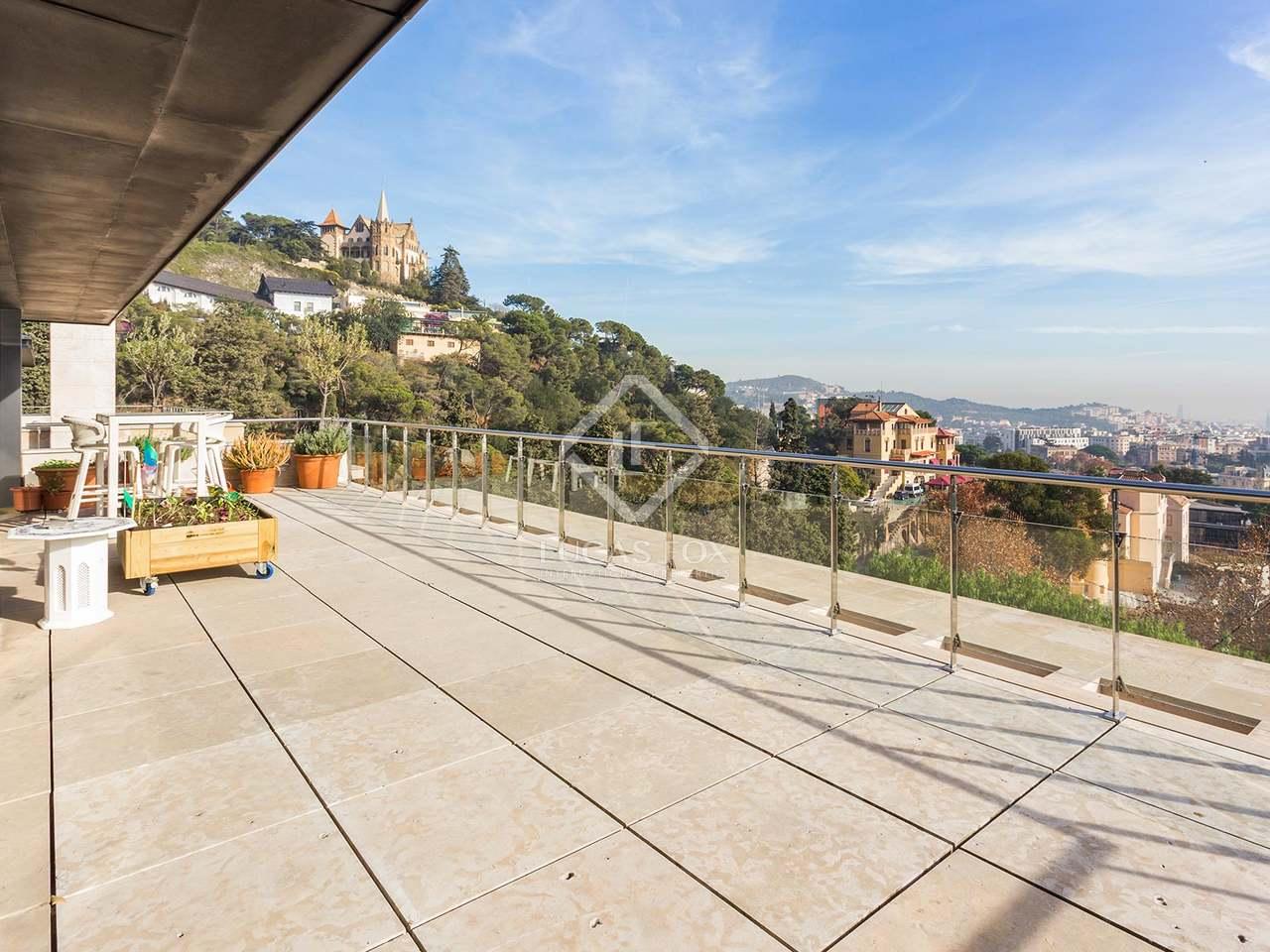 Majestic villa with sea and city views for sale in zona alta - Zona alta barcelona ...