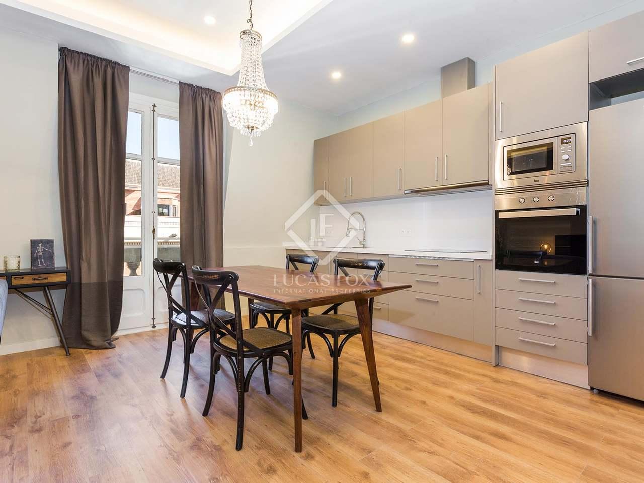 Apartamento amueblado de un dormitorio en alquiler en balmes - Fincas balmes ...