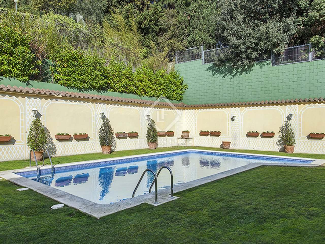 Maison villa de 520m a vendre pedralbes barcelone - Location maison piscine barcelone ...