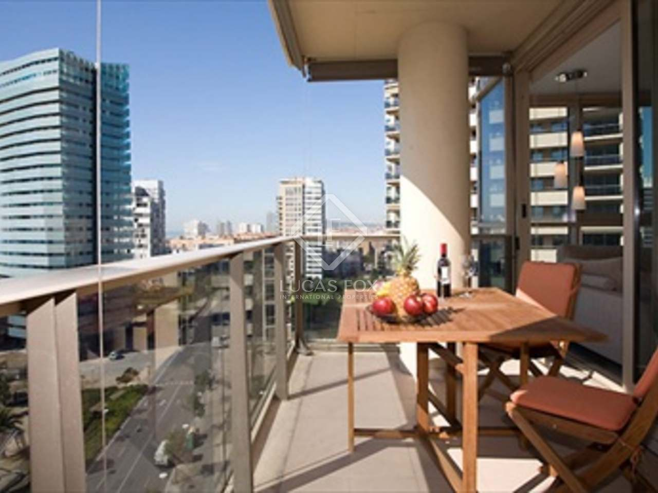 105m apartment for short term rent in diagonal mar for Barcelona apartment