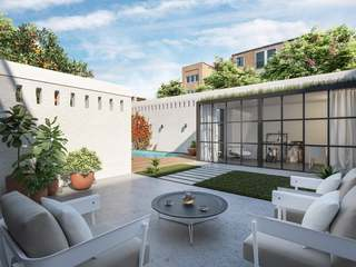 Ground floor apartment to buy with terrace and pool, Gracia
