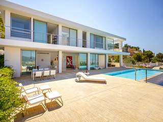 Beautiful villa with sea views for sale in Can Rimbau, Ibiza