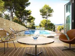 Casa de 3 dormitorios con vistas en venta en la bahía de Palma, Mallorca.