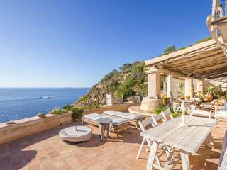 Ibiza-style villa to buy with sea access near Cala Vadella