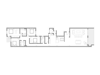212m² Apartment with 8m² terrace for sale in El Pla del Remei