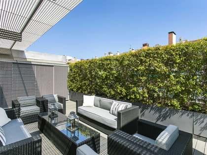 Ático de 180m² con 200m² de terraza en alquiler en Turó Park