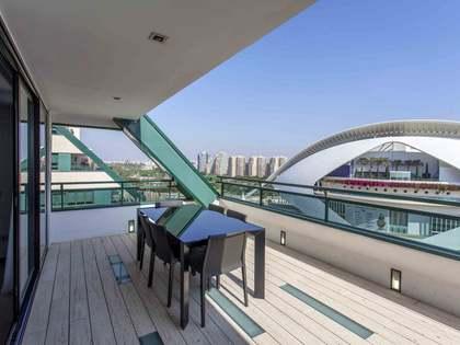 Appartement van 117m² te huur met 25m² terras in Ciudad de las Ciencias