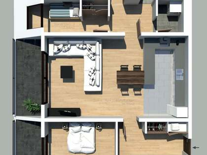 115 m² apartment with a terrace for sale in Andorra la Vella