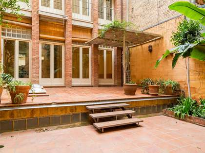 House for rent in Barcelona's Gracia district with a garden