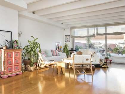 Appartement van 120m² te huur met 90m² terras in Gracia