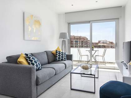 55 m² apartment with 20 m² terrace for rent in Les Corts