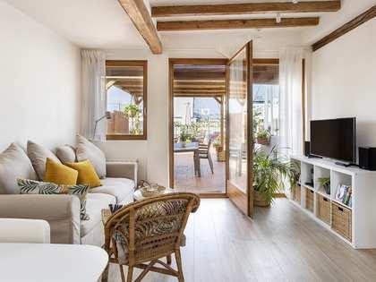 Ático de 40m² con 60m² de terraza en alquiler en Gótico