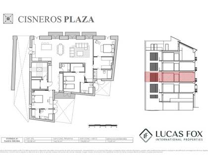 197 m² apartment with 13 m² terrace for sale in La Seu