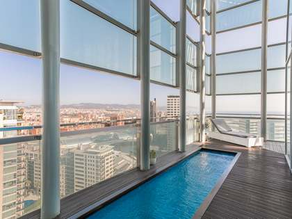 Ático de 153m² con 72m² terraza en venta en Diagonal Mar