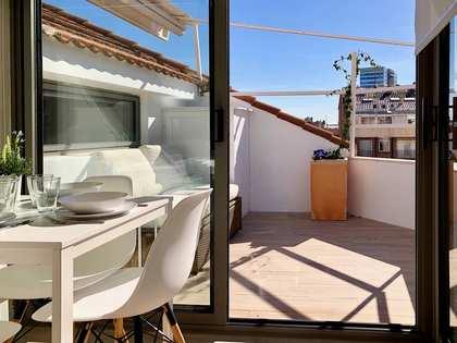 Ático de 25 m² con 7 m² de terraza en alquiler en Turó Park