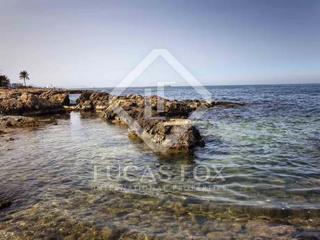 Seafront plot for sale in Las Rotas, Denia