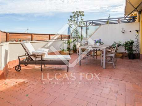 Penthouse for rent in Barcelona's Eixample district