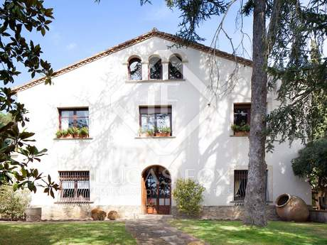Historic Catalan property for sale in Vallromanes, Maresme