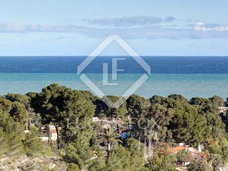 Ibiza-style villa with sea views for sale in Denia