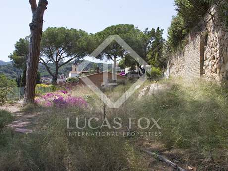 Building plot for sale in the maresme town of Cabrils