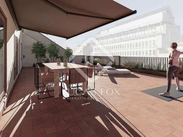 Penthouse van 111m² te koop met 113m² terras in Eixample Rechts