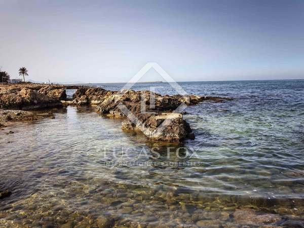Seafront plot for sale in Las Rotas, Denia