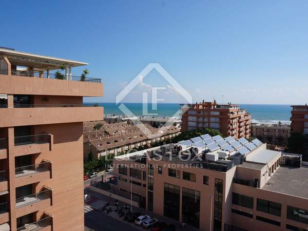 Penthouse with sea views for rent in Playa Patacona