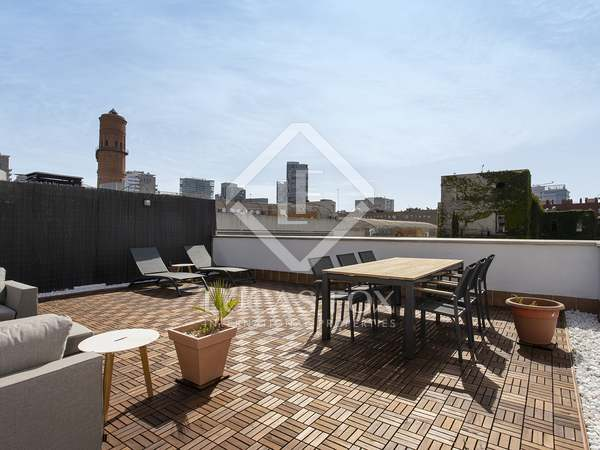66m² Apartment with 58m² terrace for rent in Poblenou